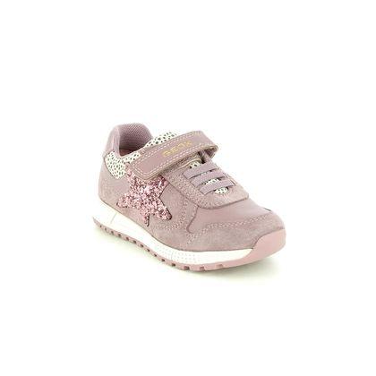 Geox Girls Trainers - Pink Leather - B153ZA/C8025 ALBEN G BUNGEE STAR