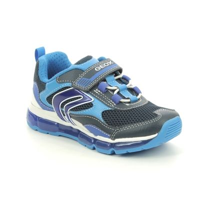 Geox Boys Trainers - Navy - J1544B/C0693 ANDROID BOY BUNGEE