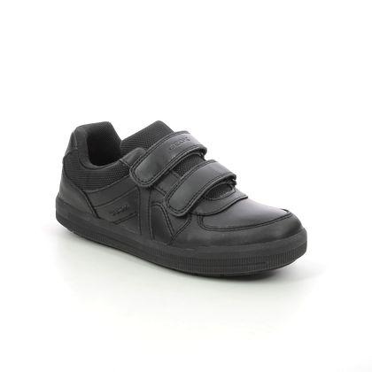 Geox Boys Shoes - Black leather - J844AE/C9999 ARZACH BOY VEL