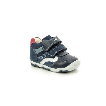 Geox 1st Shoes & Prewalkers - Navy Leather - B920PC/C4002 BABY BALU BOY