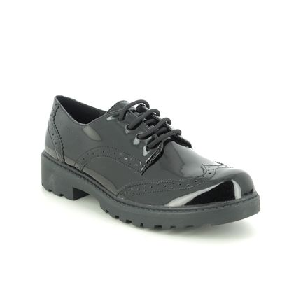 Geox Girls Shoes - Black patent - J6420N/C9999 CASEY LACE