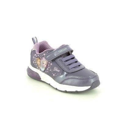 Geox Girls Trainers - Purple - J168VB/C8406 FROZEN GIRL
