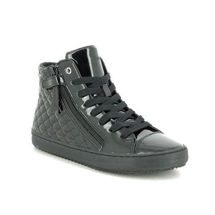 Geox Girls Shoes - Black patent - J944GD/C9999 KALISPERA