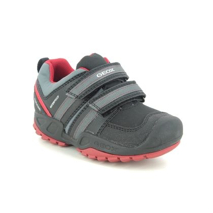 Geox Boys Shoes - Black grey - J04CBD/C0048 NEW SAVAGE TEX