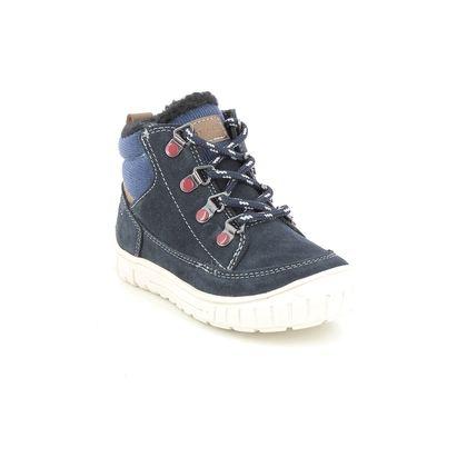 Geox Infant Boys Boots - Navy Suede - B162DA/C0735 OMAR BOY TEX