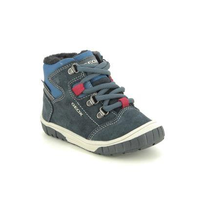 Geox Infant Boys Boots - Navy suede - B942DA/CF44R OMAR BOY TEX