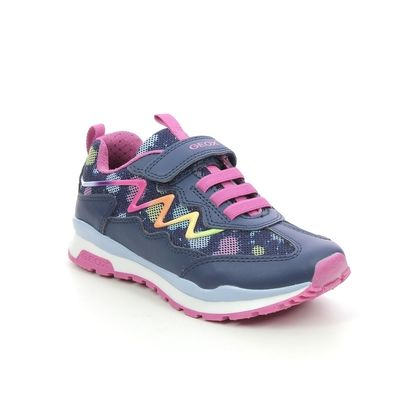 Geox Girls Trainers - Navy - J158CA/C4243 PAVEL GIRL JNR
