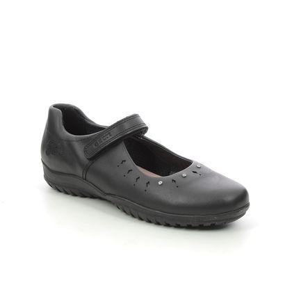Geox Girls Shoes - Black leather - J16A6B/C9999 SHADOW B FROZEN