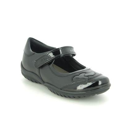 Geox Girls Shoes - Black leather - J84A6B/C9999 SHADOW