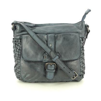 Gianni Conti Handbags - BLUE LEATHER - 4594782/492 COMO INTERWEAVE
