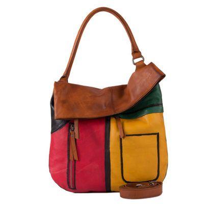 Gianni Conti Handbags - Tan multi - 4624462/97 VENETO TOTE