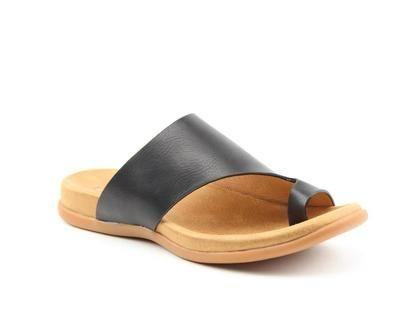 Heavenly Feet Toe Post Sandals - Black - 0115/30 BEVERLEY