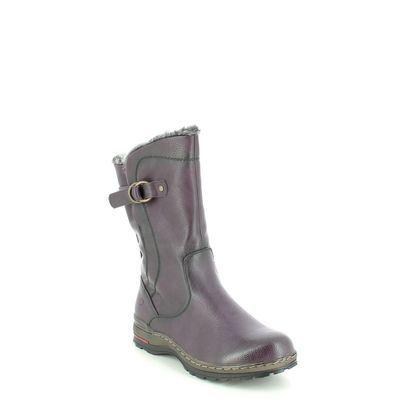 Heavenly Feet Mid Calf Boots - PLUM - 1508/89 BRAMBLE