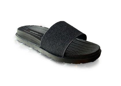 Heavenly Feet Slide Sandals - Black - 0114/30 DUNE