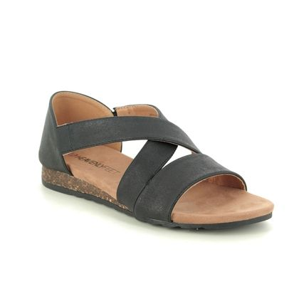 Heavenly Feet Flat Sandals - Black - 0101/30 ESTELLE