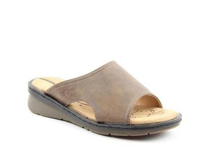 Heavenly Feet Slide Sandals - Brown - 0102/20 GINGER