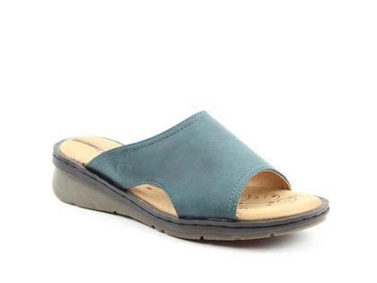 Heavenly Feet Slide Sandals - Blue - 0102/72 GINGER