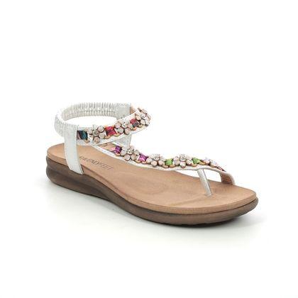 Heavenly Feet Flat Sandals - White-silver - 2021/80 GISELA