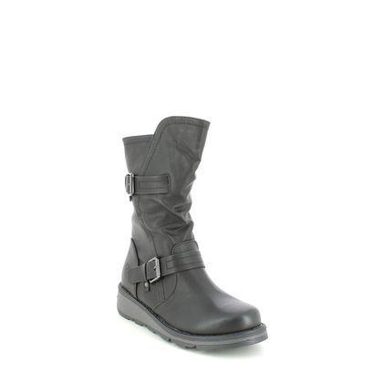 Heavenly Feet Mid Calf Boots - Black - 1509/30 HANNAH 2