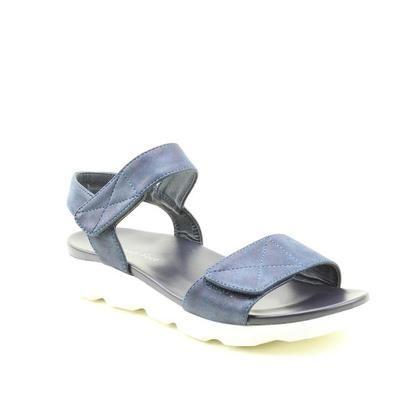 Heavenly Feet Comfortable Sandals - Navy - 9129/70 HEIDI
