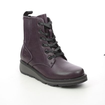 Heavenly Feet Lace Up Boots - Purple - 1510/88 JOURNEY