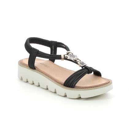 Heavenly Feet Wedge Sandals - Black - 2022/30 LEONA