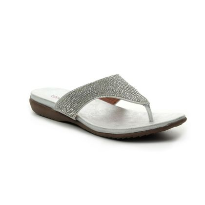 Heavenly Feet Toe Post Sandals - Silver - 9127/01 MAISIE