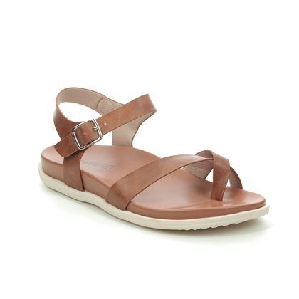 Heavenly Feet Flat Sandals - Tan - 0112/11 RIVER