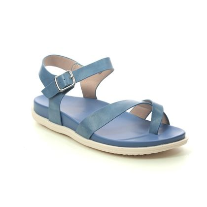 Heavenly Feet Flat Sandals - Blue - 0112/72 RIVER