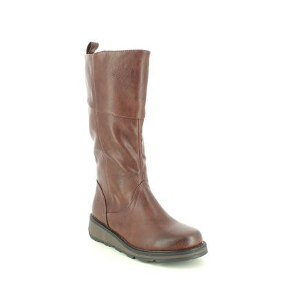 Heavenly Feet Knee High Boots - Chocolate brown - 1501/20 ROBYN  3