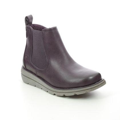 Heavenly Feet Chelsea Boots - Purple - 1502/86 ROLO   4