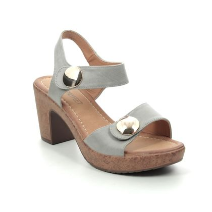 Heavenly Feet Heeled Sandals - Stone - 9123/93 SADIE
