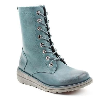 Heavenly Feet Lace Up Boots - Teal blue - 0525/73 WALKER MARTINA