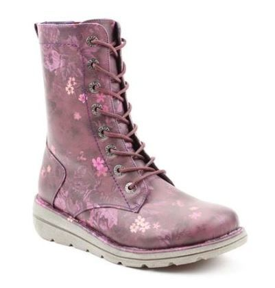 Heavenly Feet Lace Up Boots - Purple Floral - 0525/95 WALKER MARTINA
