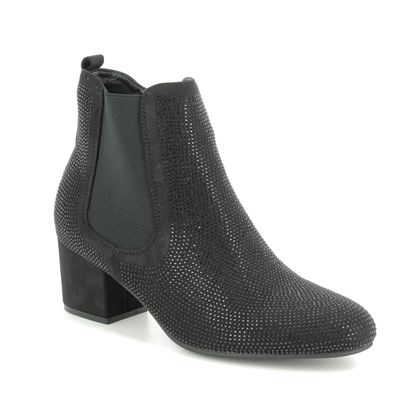 Heavenly Feet Ankle Boots - Black Glitz - 9522/31 WAVE 2