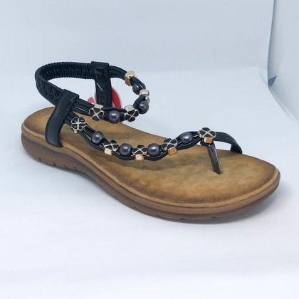 Heavenly Feet Flat Sandals - Black - 9113/30 ZARA