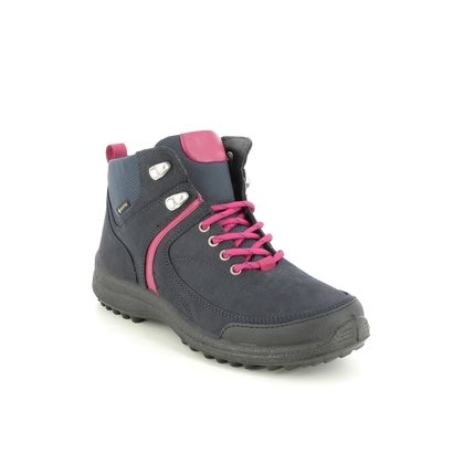 Hotter Walking Boots - Navy nubuck - 4557/71 ALPINE GTX