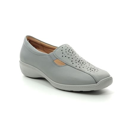 Hotter Comfort Slip On Shoes - Grey leather - 9101/00 CALYPSO 91 E