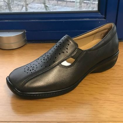 Hotter Comfort Slip On Shoes - Pewter - 9501/51 CALYPSO 95 E