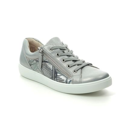 Hotter Comfort Lacing Shoes - Silver Leather - 0111/01 CHASE  E FIT