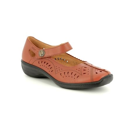 Hotter Comfort Slip On Shoes - Tan - 8102/11 CHILE E FIT