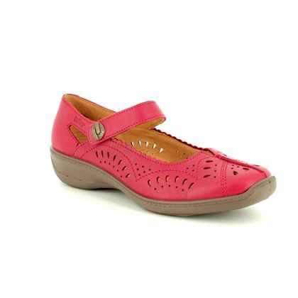 Hotter Comfort Slip On Shoes - Red - 8102/80 CHILE E FIT