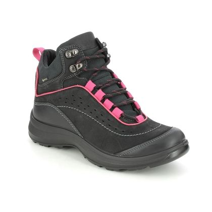Hotter Walking Boots - Black nubuck - 9914/31 CREST GTX STANDARD FIT