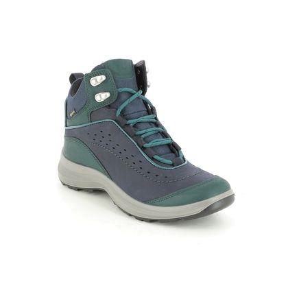 Hotter Walking Boots - Navy nubuck - 9914/73 CREST GTX STD