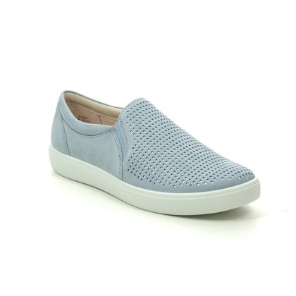 Hotter Comfort Slip On Shoes - Pale blue - 0112/71 DAISY  E FIT
