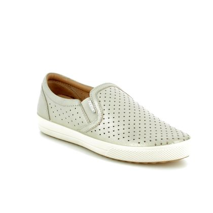 Hotter Comfort Slip On Shoes - Silver - 8103/01 DAISY E FIT
