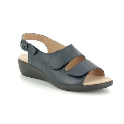 Hotter Comfortable Sandals - Navy Leather - 9103/70 ELBA E FIT