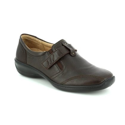 Hotter Comfort Slip On Shoes - Brown - 7202/20 FRANCIS