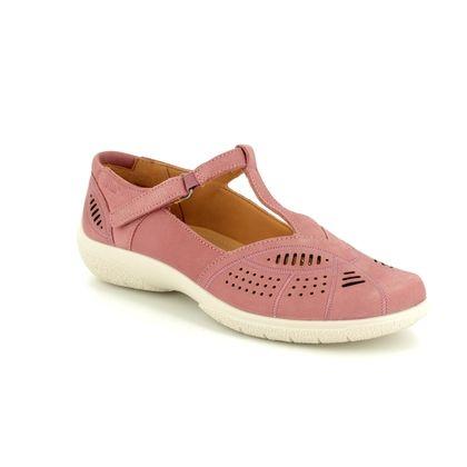 Hotter Comfort Slip On Shoes - Rose - 8104/60 GRACE E FIT