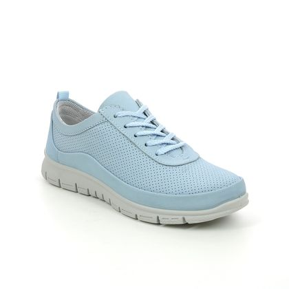Hotter Comfort Lacing Shoes - Blue nubuck - 9910/73 GRAVITY 2 STD